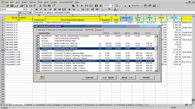 construction cost estimating download | construction