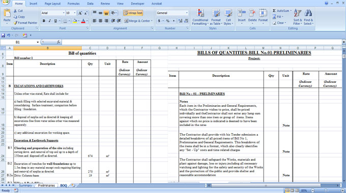 Construction cost estimating sheets civil engineering sheet data of bill of quantities thecheapjerseys Gallery