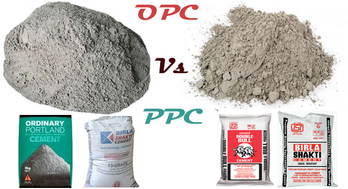 What is the difference between PPC and OPC cement?