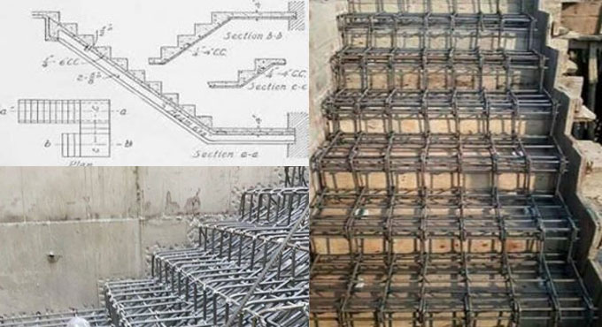 Steel Reinforcement For Stairs Design Of Rcc Staircase