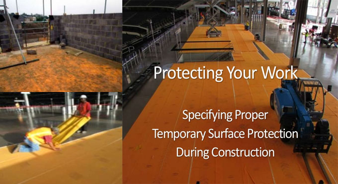 Surface Protection during Construction